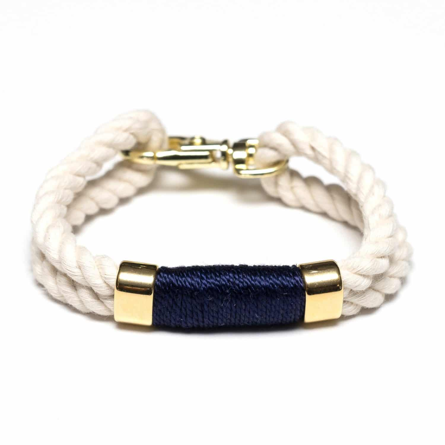 rope anchor navy leather bracelet bracelets for men products nautical mens